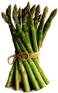 asparagus with tie
