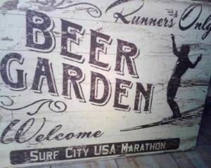 beer garden retro sign