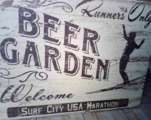 beer garden retro sign