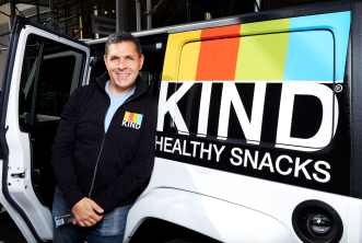 Kind CEO by truck