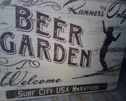 marathon sign