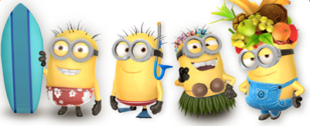 minion party goers