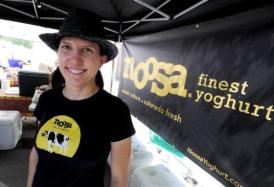 Noosa Yogurt3.JPG Koel Thomae at her Noosa Yogurt Stand at the Boulder Farmer's Market Cliff Grassmick / June 23, 2012