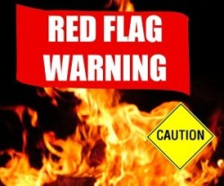 red flag caution