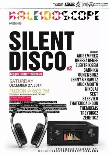 silent disco kaleidoscopeproductions poster