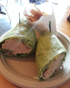 spinach wrap.tuna