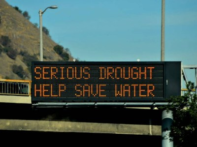 Drought Sign freeway