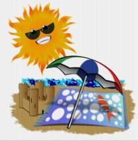 sun at beach
