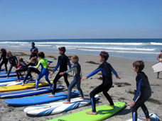 surf camp kids