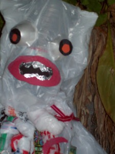 bag monster closeup