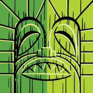 Tiki_Pillow_Green