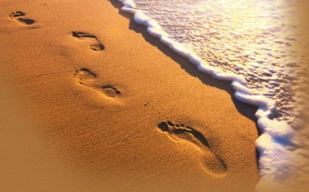footprints in sand 2