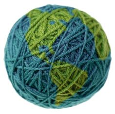 globe made of yarn
