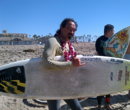 F and surfboard - Natalies paddle out
