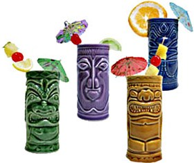 tiki drinks with umbrellas