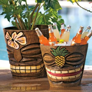 tiki ice bucket