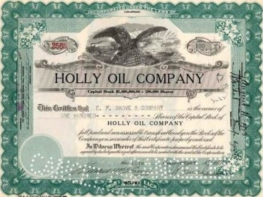 Holly-Oil-stock-certificate