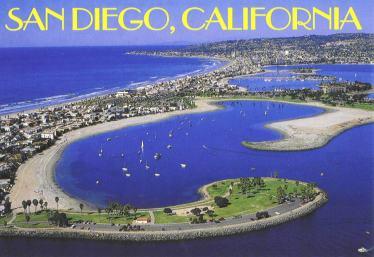 postcard of bay