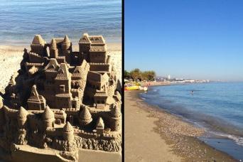 sandcastles in Spain