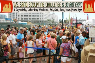 US Sand Sculpting Challenge sign.people