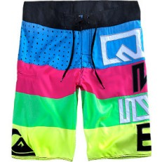 quiksilver neon colored boardshhorts