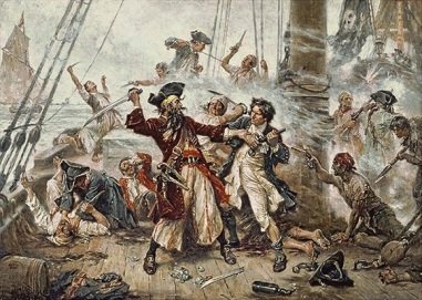 Blackbeard pirates fighting images