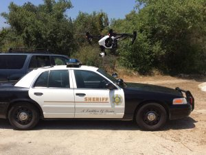 sheriffs car and drone