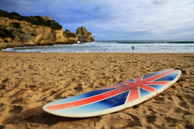 surfboard with Union Jack