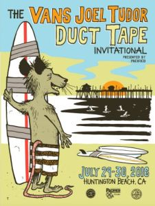 Joel Tudor Duct Tape Longboard poster