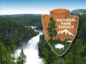 national-park-service-logo-on-yellowstone