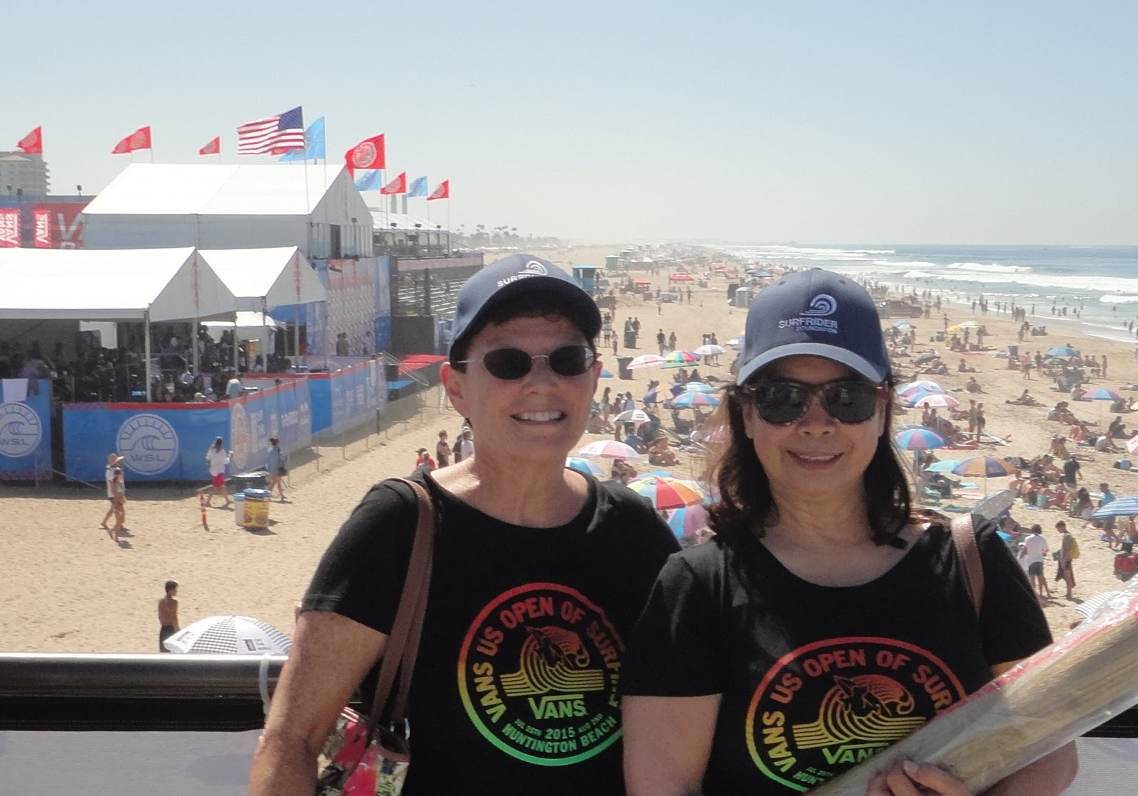 4ebc9f05aa SurfWriter Girls Sunny Magdaug and Patti Kishel love watching the surfing  competitions and everything else. Whether you re hanging off the Huntington  Beach ...
